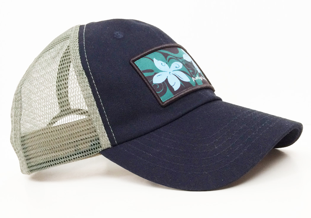 Hawaiian Trucker Hat #1621 side view