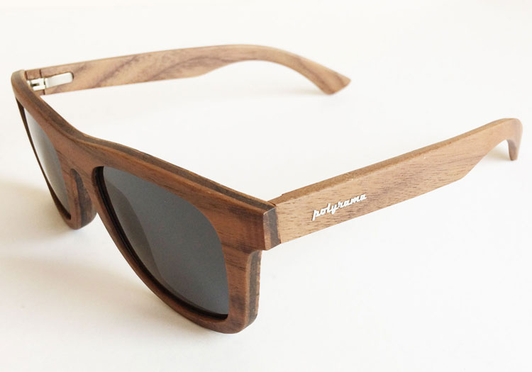 Walnut Wood Sunglasses with Polarized Lenses