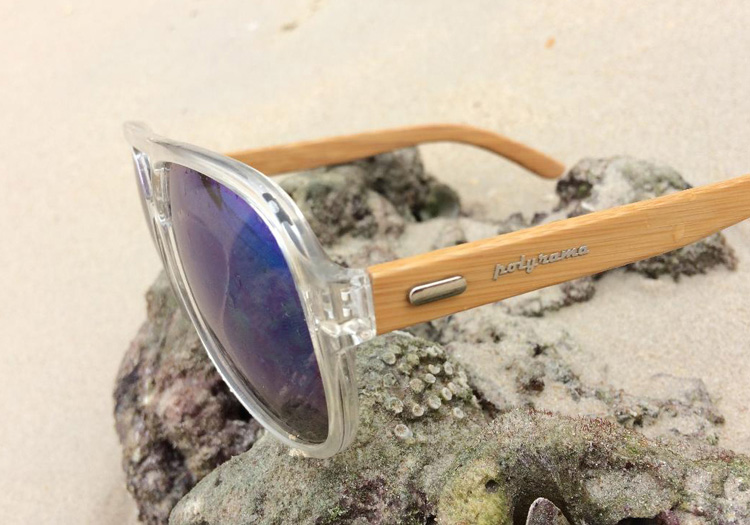 Wooden Aviator Sunglasses Clear Frame